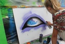 Ein Graffiti entsteht